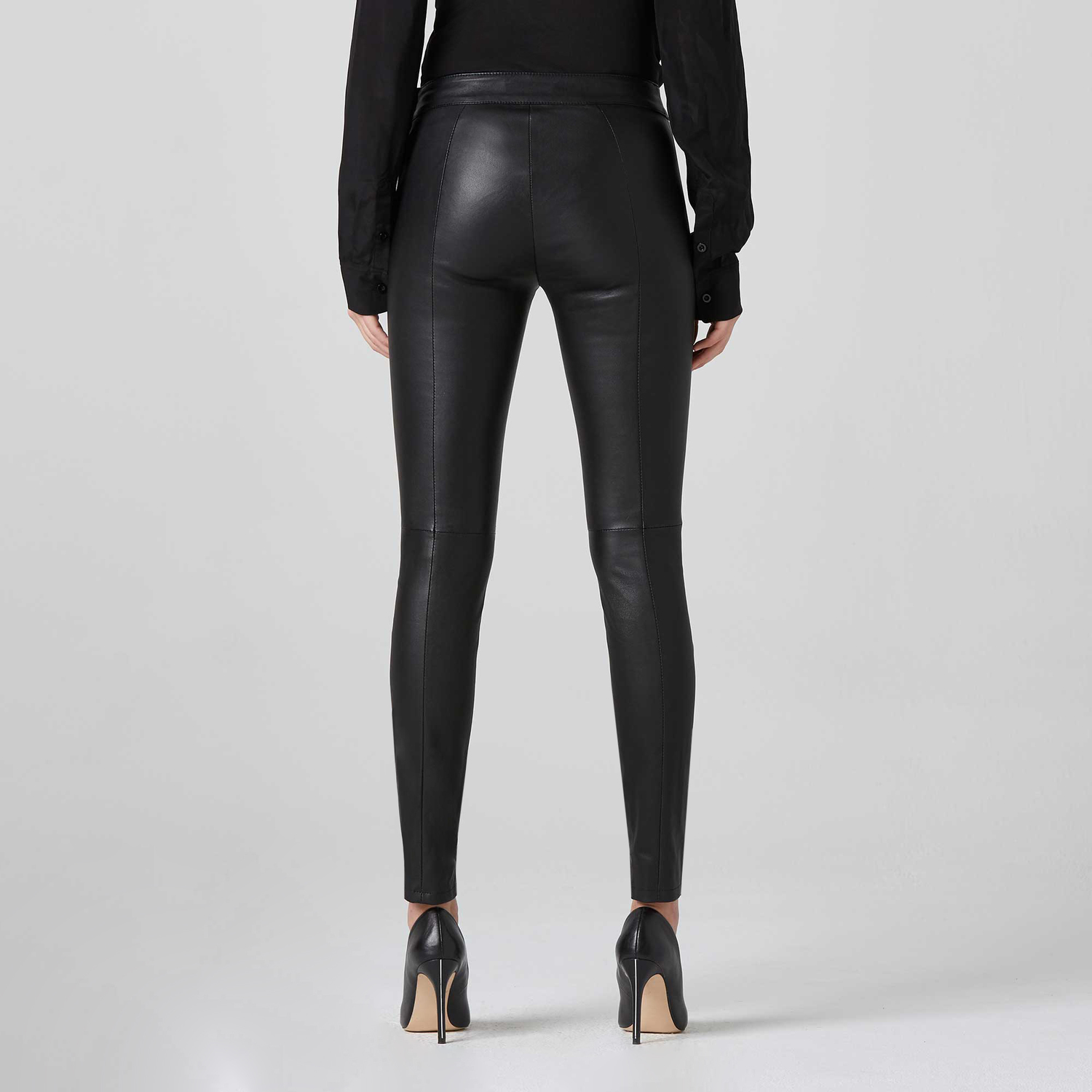 2018 sneakers how to orders factory authentic [Collection] Leather Leggings in Black