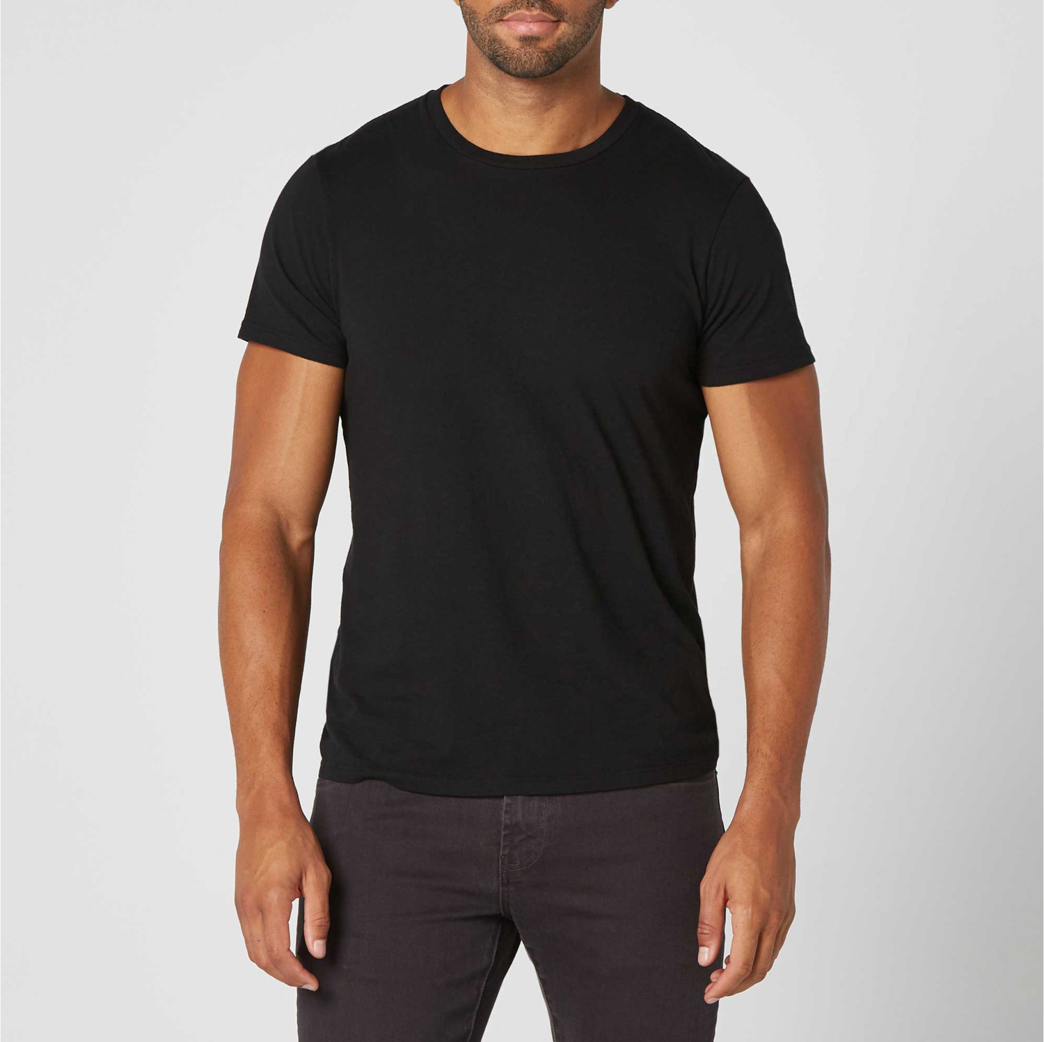 save up to 80% hot sale various kinds of Mens Crew Neck Tee in Black
