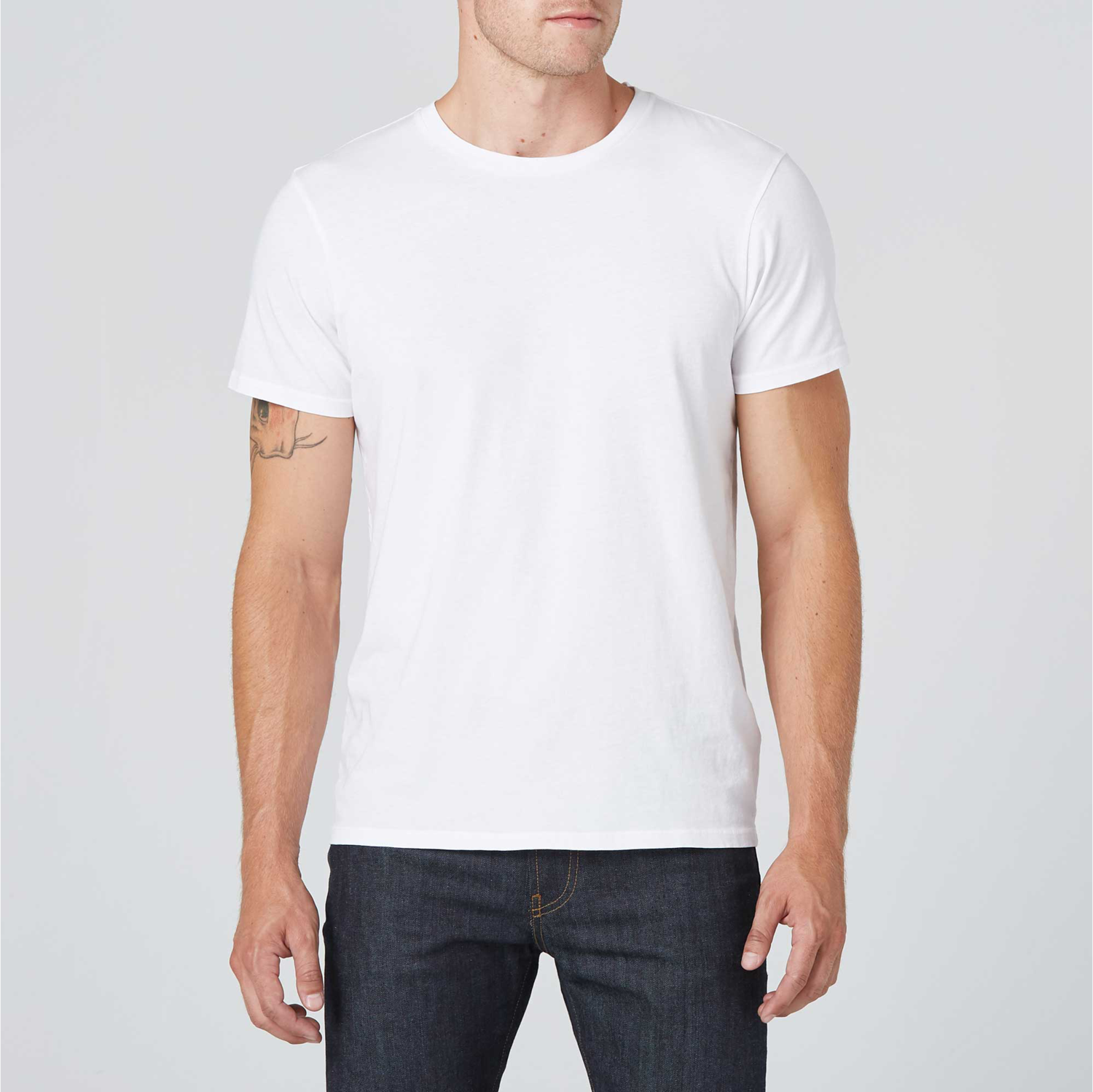 order later better price Mens Crew Neck Tee in White
