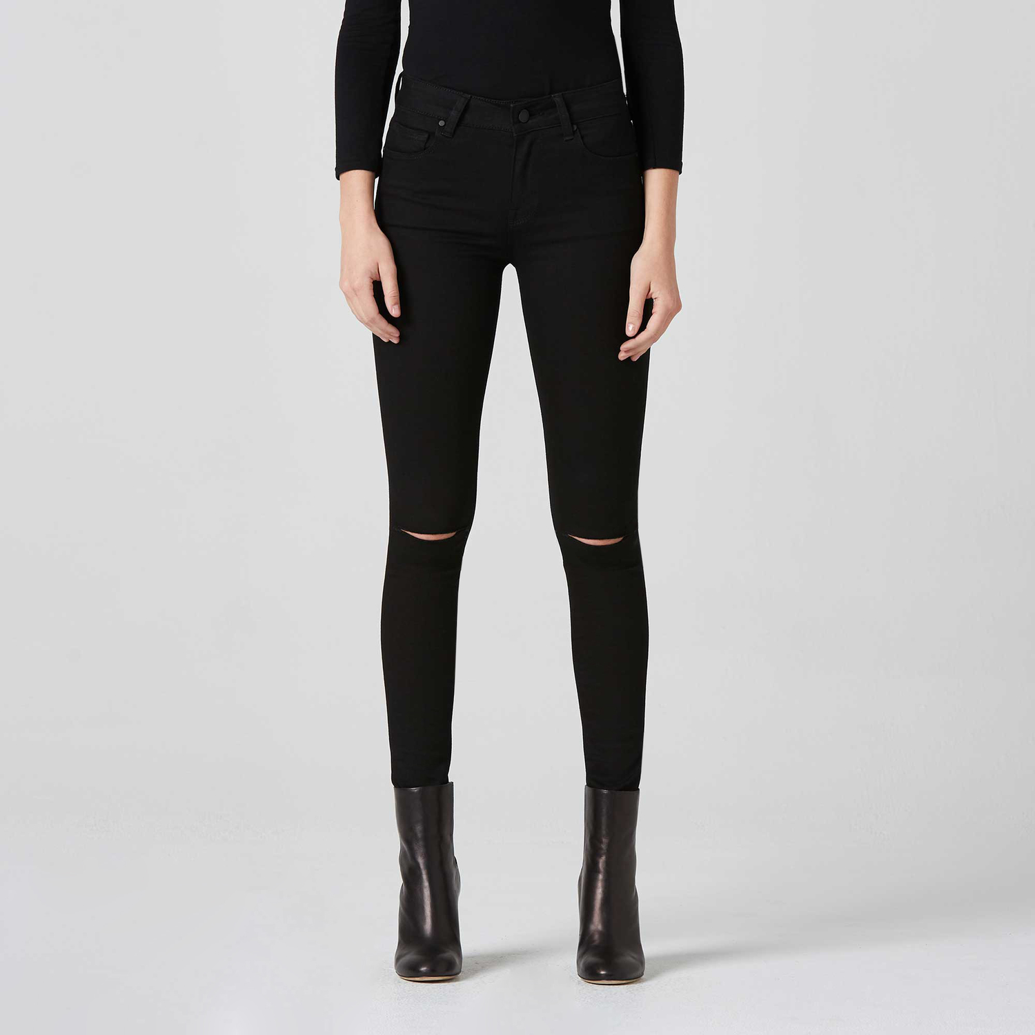 hot sale another chance provide plenty of [High Waisted Skinny] Ripped High Rise Skinny Jeans in Black