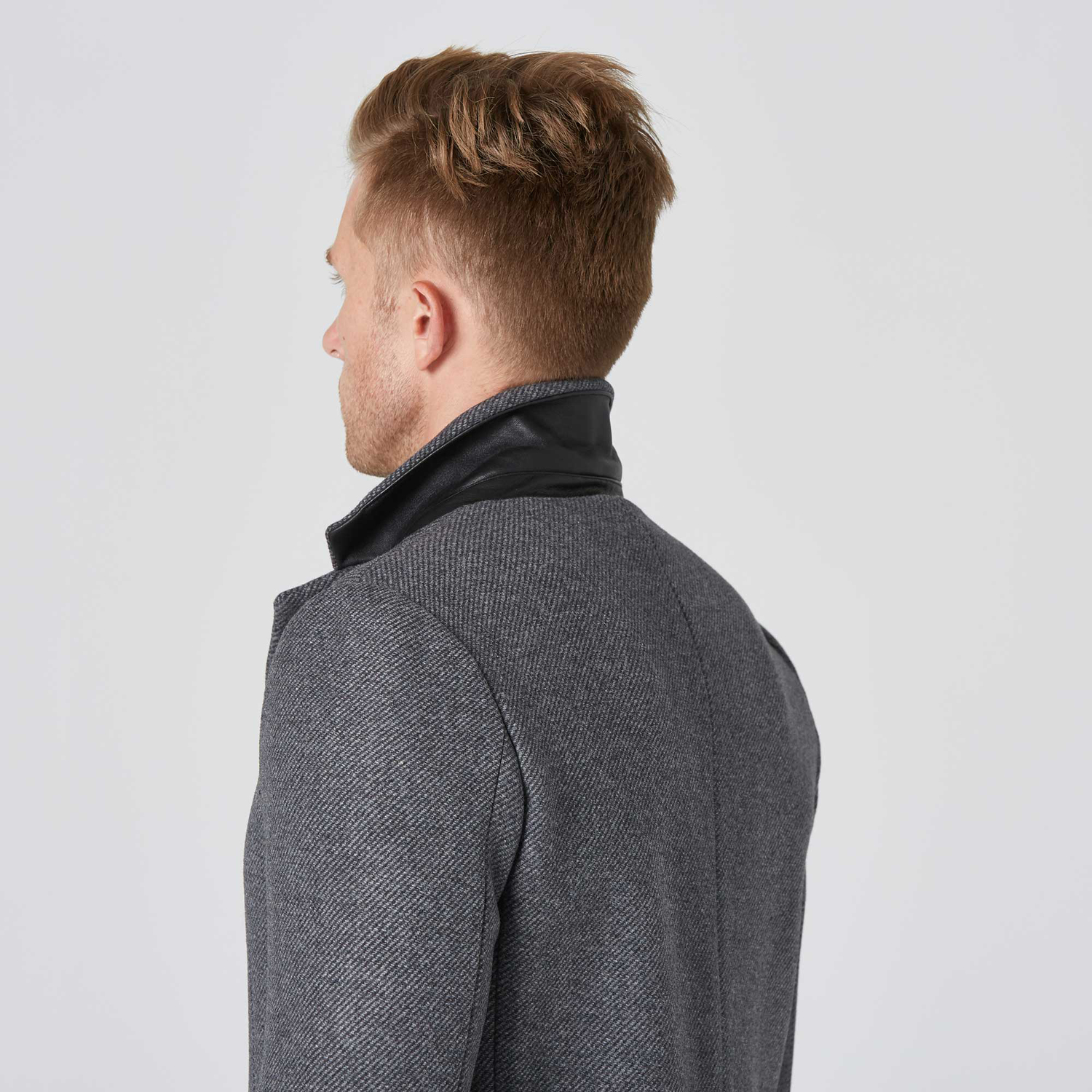 bb1e3cf6cb7 Mens Long Wool Coat In Grey  250