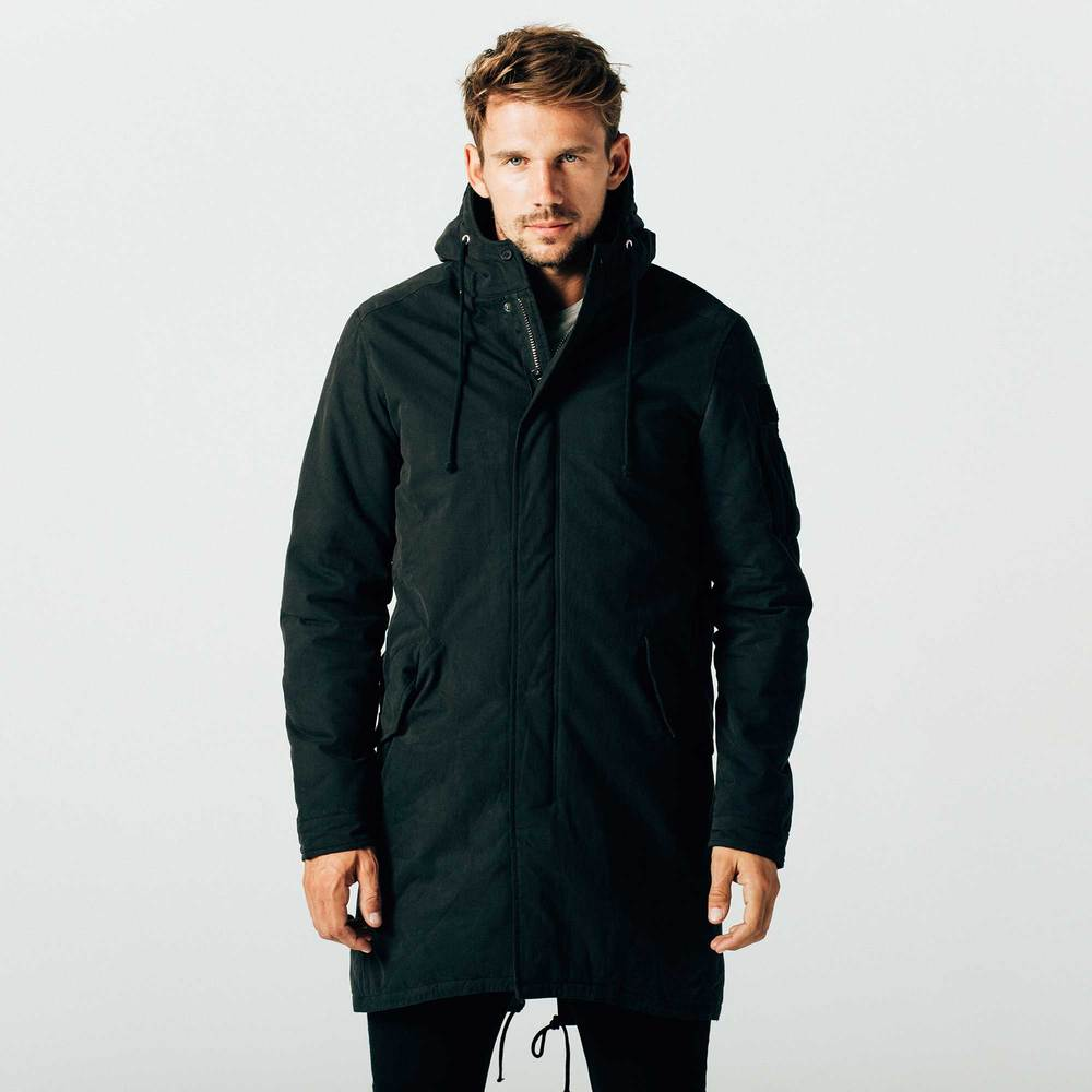 Mens Military Parka In Black $250 | DSTLD