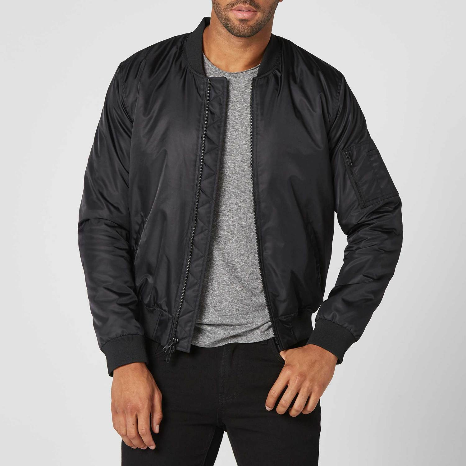7cd5fbd9b33 Mens Nylon Bomber Jacket  135