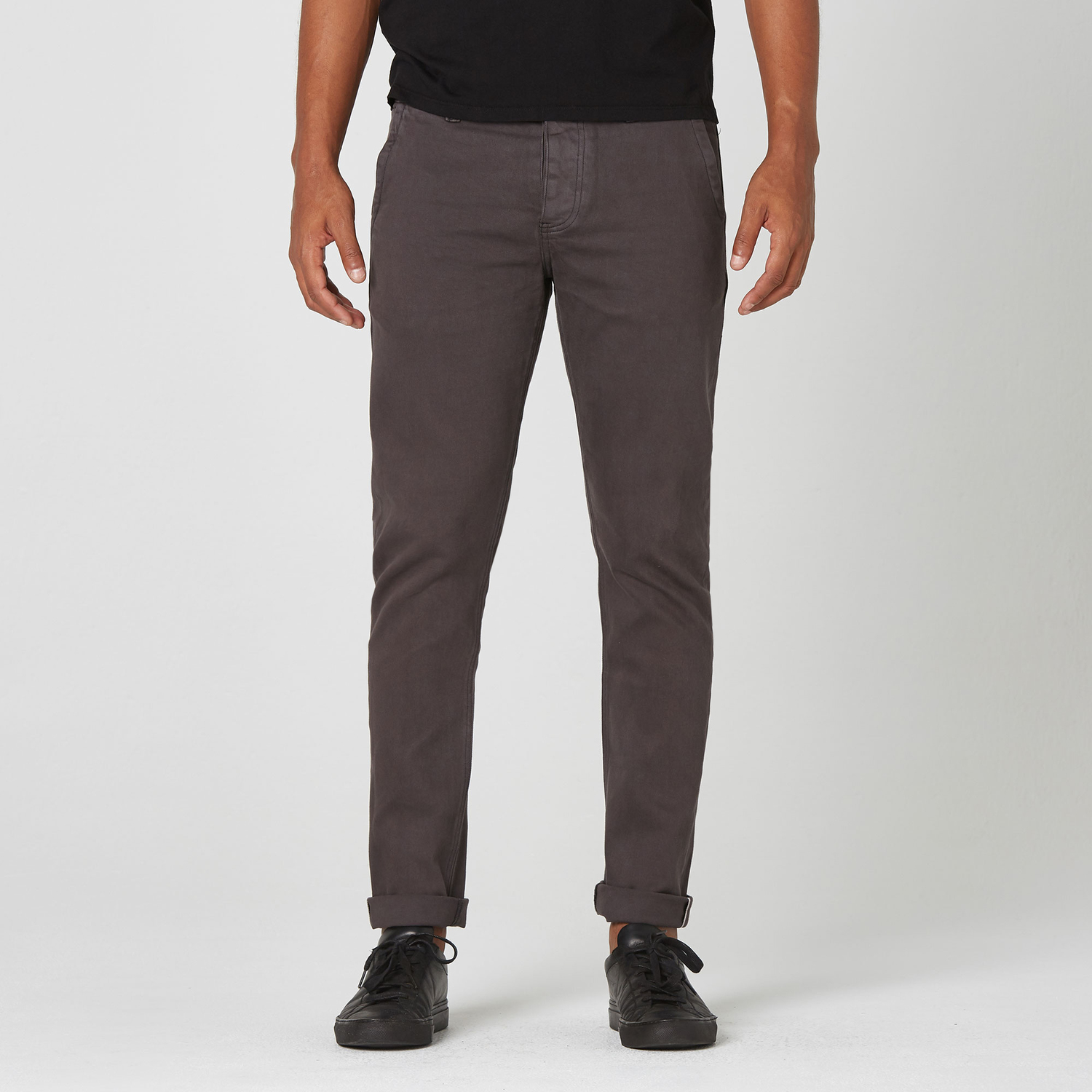 1f155af95a Mens Skinny Slim Selvedge Chino Pant In Charcoal $75 | DSTLD