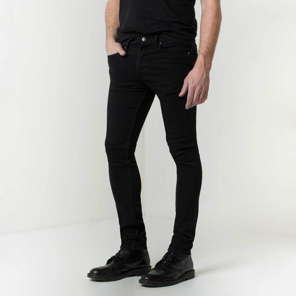 Mens Skinny Jeans In Jet Black | DSTLD