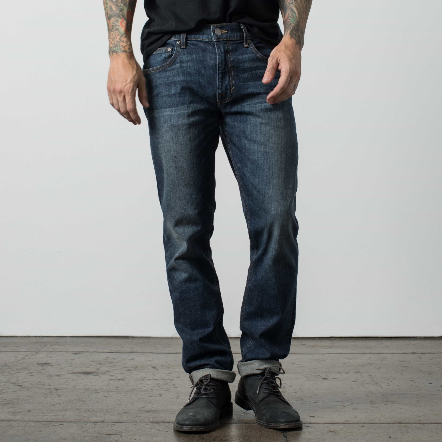 Mens Slim Jeans In Dark Worn  85  51c7a711c