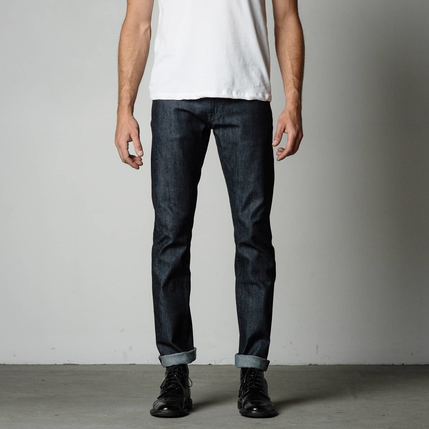 Mens Slim Jeans | Black, Grey, Raw Mens Slim Fit Jeans | DSTLD