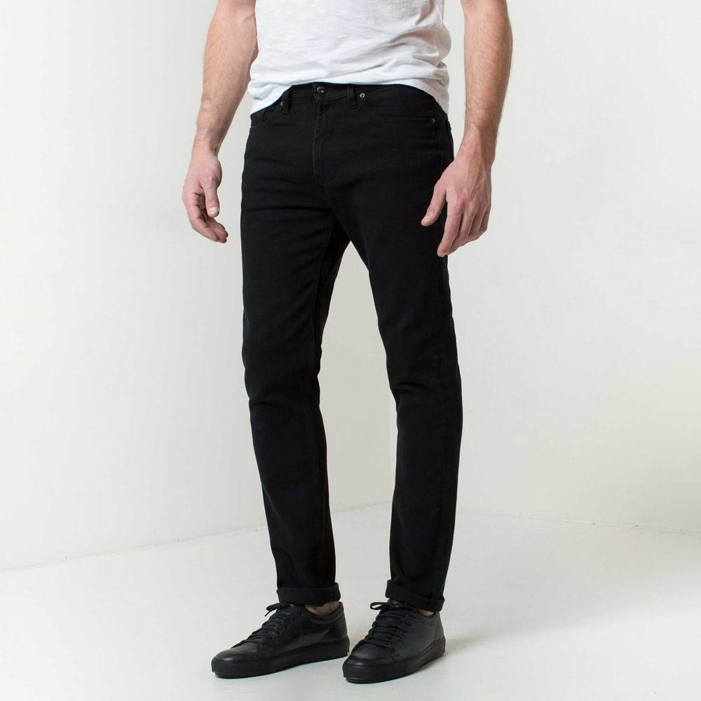 Mens Skinny Slim Jeans In Jet Black | DSTLD