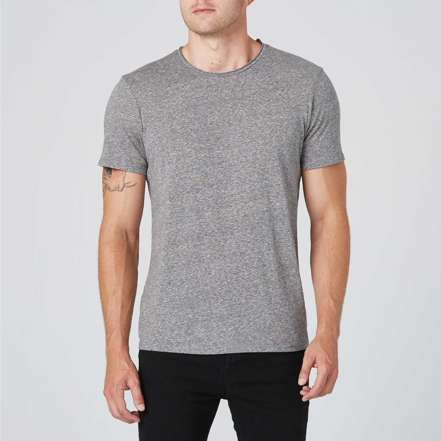 38a68eb330c4 Mens Modern Crew Neck Tee In Heather Grey $30 | DSTLD