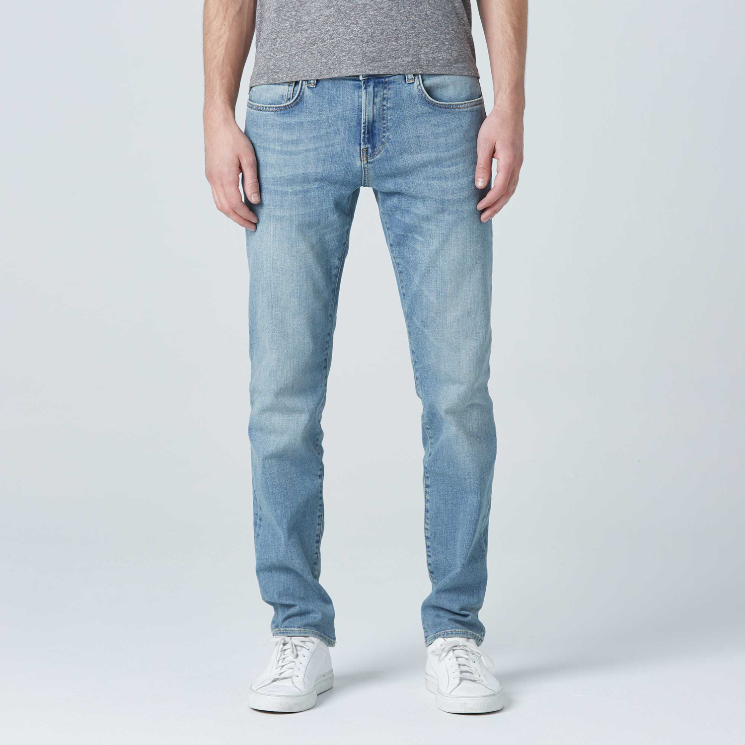 0a65aa74 Mens Skinny Slim Jeans In Light Wash $95 | DSTLD