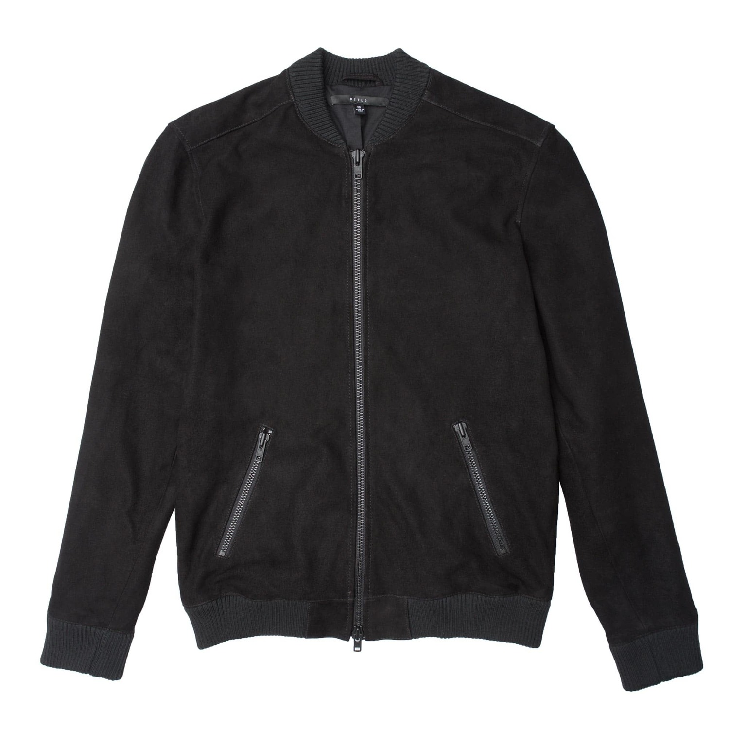 Mens Suede Bomber Jacket In Black $350 | DSTLD