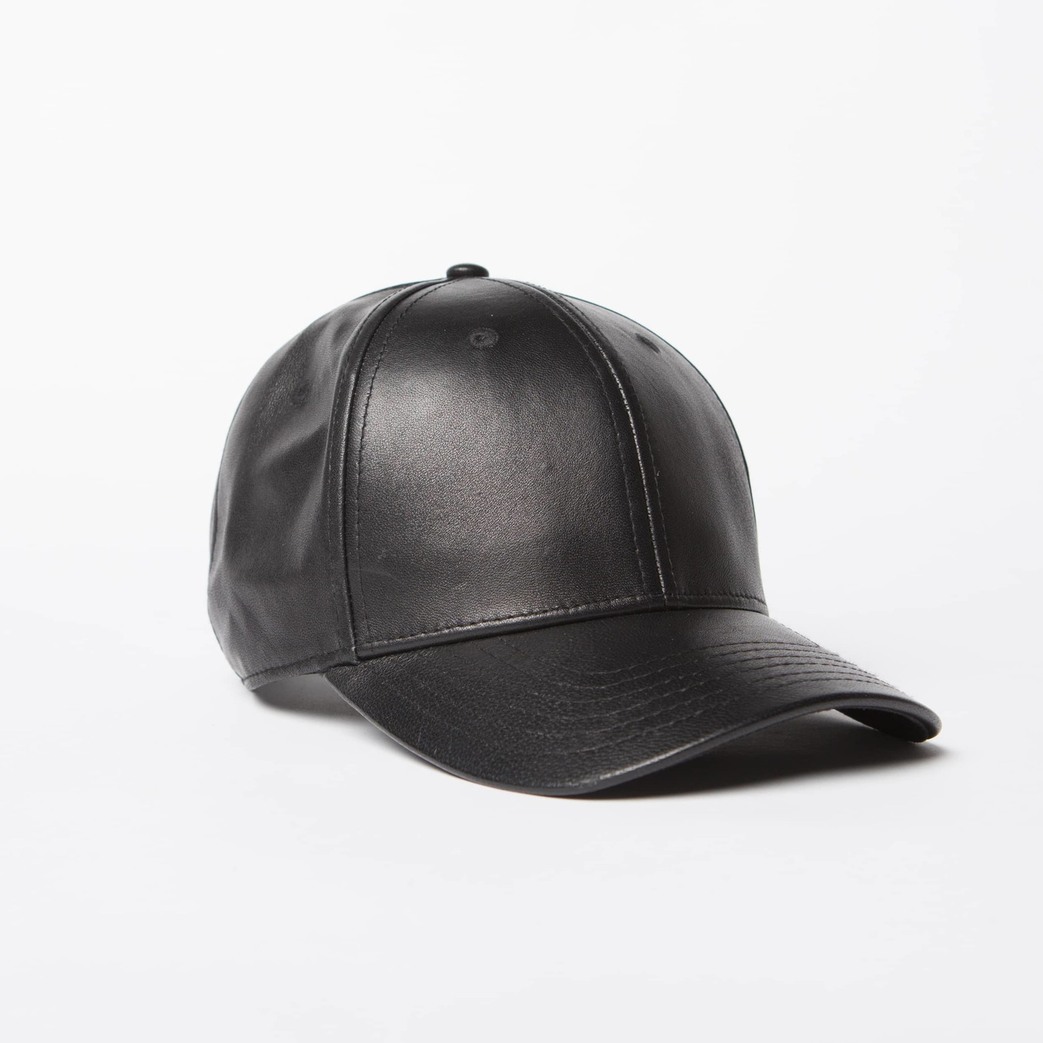 Leather Hat In Black  75  74e37ebac16