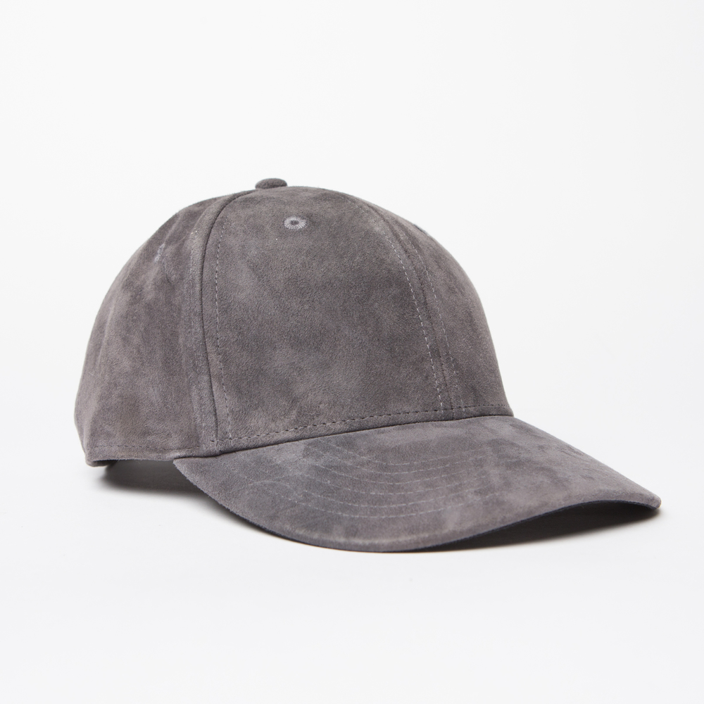 Suede Hat in Grey