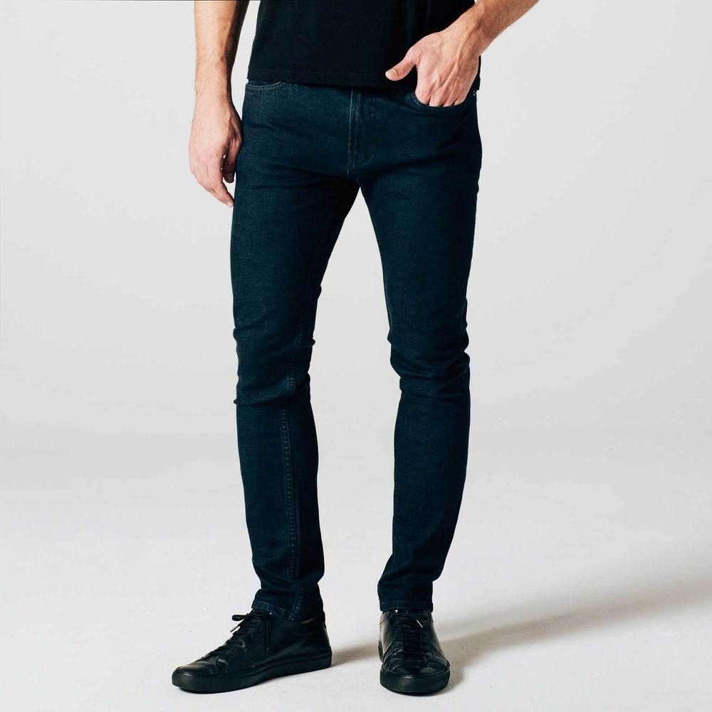 Mens Skinny Jeans in Midnight Blue Overdye ...