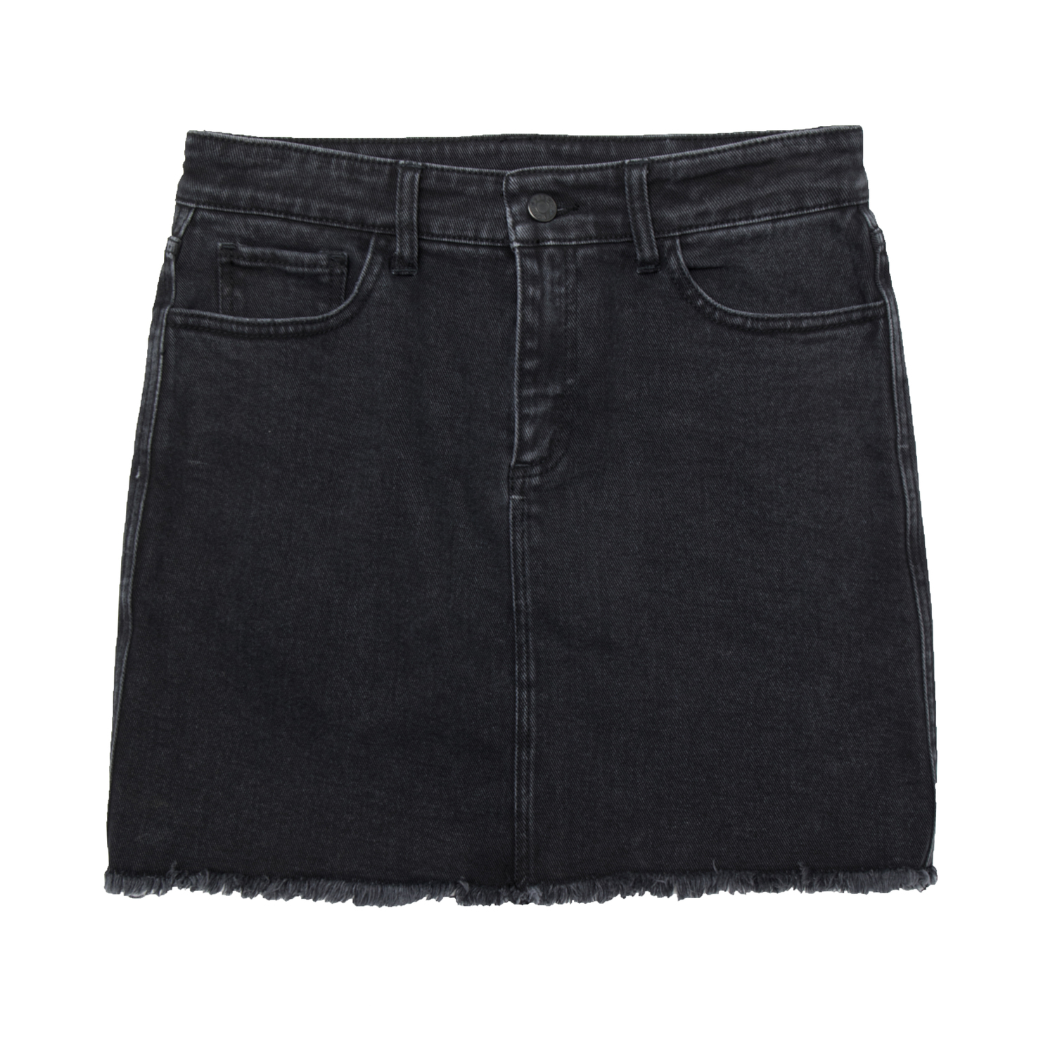 70564e736c Womens High Waisted Denim Skirt In Faded Black $75 | DSTLD