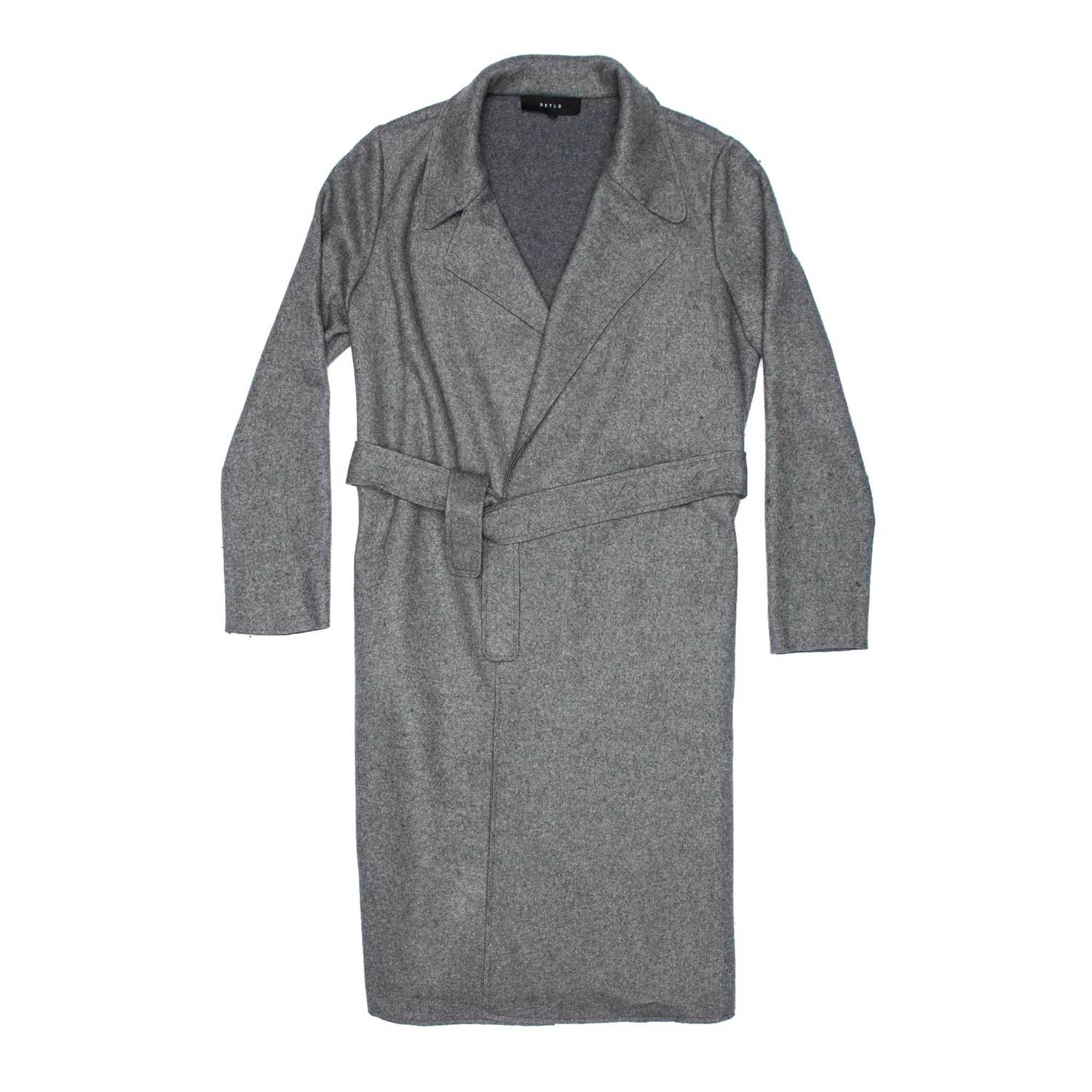 Womens Wool Blanket Maxi Coat In Grey $180 | DSTLD