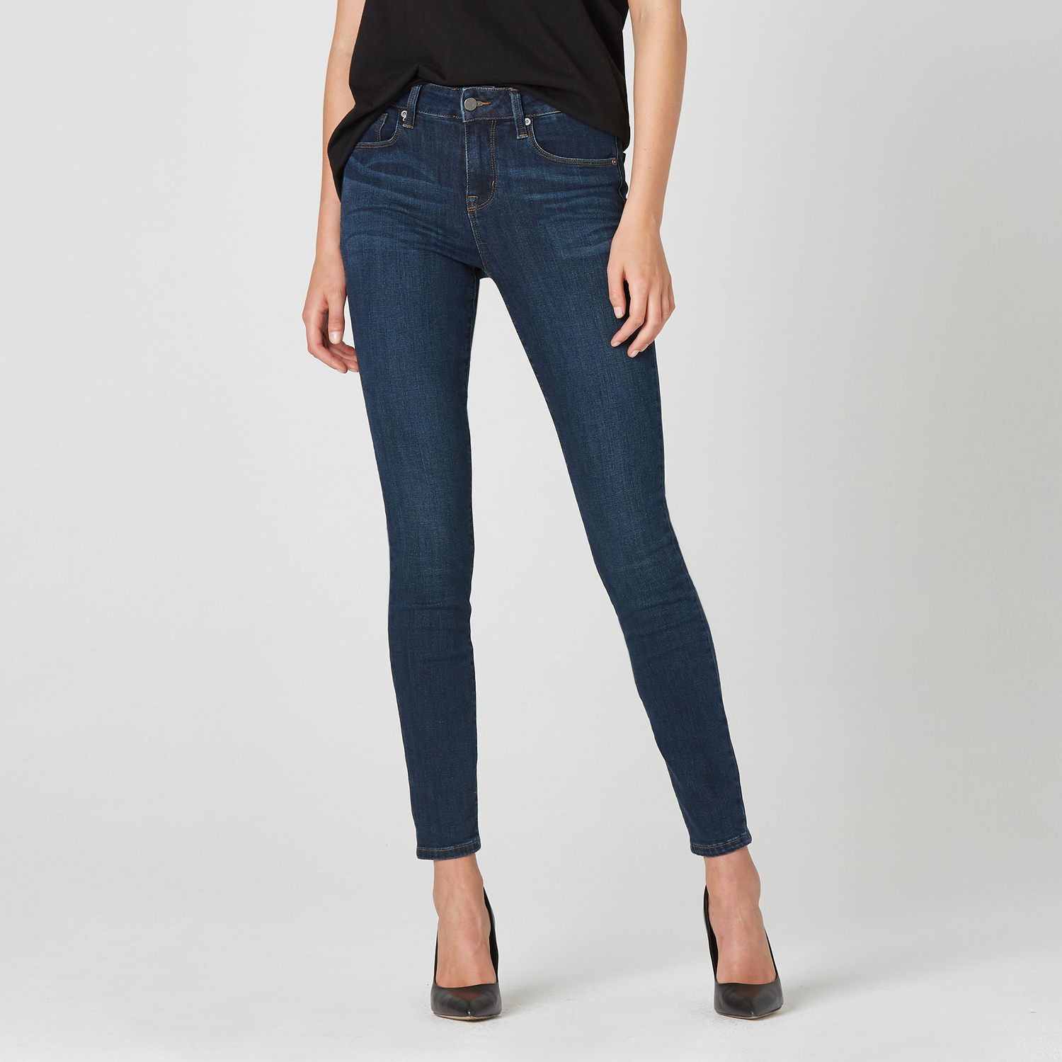 8c7989ec25e Womens High Rise Skinny Jeans In Dark Vintage $95 | DSTLD