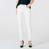High waisted skinny jeans in white small