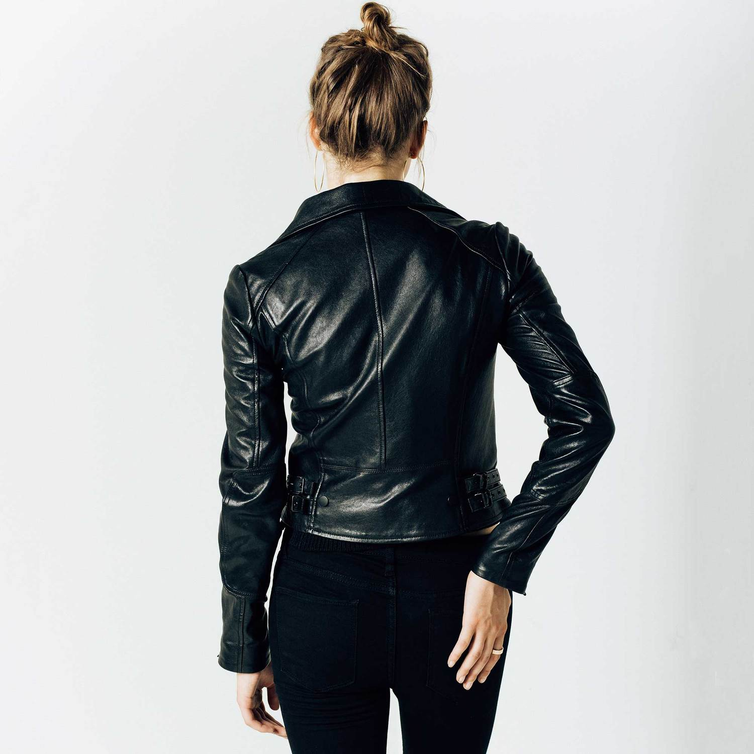 Coated Black Jeans Womens